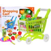 Inlea4Fun Bevásárlókosár zöldséggel és gyümölccsel - zöld