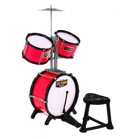 Játék dob felszerelés Inlea4Fun BIG BAND - piros