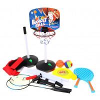 Kosárlabda, röplabda, tollaslabda, frizbi, tenisz szett 5az1-ben Inlea4Fun SPORT SERIES