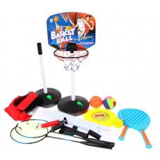 Kosárlabda, röplabda, tollaslabda, frizbi, tenisz szett 5az1-ben Inlea4Fun SPORT SERIES Előnézet