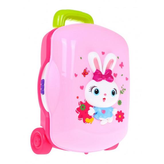 HOLA Bőrönd fésülködő és smink kiegészítőkkel fény- és hanghatásokkal
