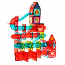 Mágneses építőjáték golyófutam 145 darabos + ajándék doboz Inlea4Fun Előnézet