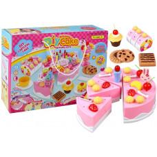 Inlea4Fun DIY CAKE BHIRTDAY Szeletelhető torta szett 75 kiegészítővel Előnézet
