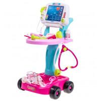 Inlea4Fun MEDICAL PLAY SET orvosi kocsi 17 kiegészítővel