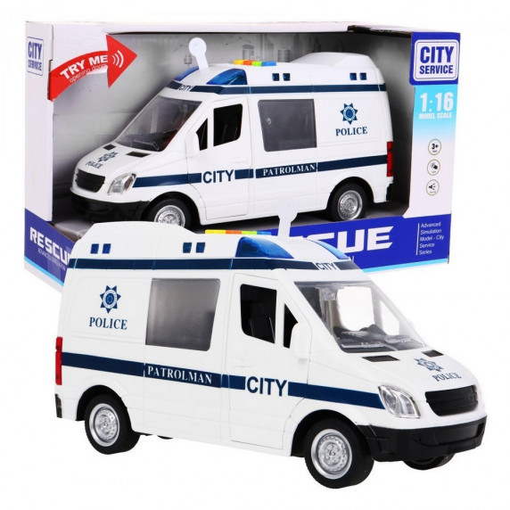 Mentőatuó hang- és fényhatásokkal 22 cm Inlea4Fun City Service