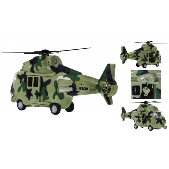 Katonai helikopter hang és fény effektekkel Inlea4Fun