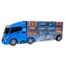 Rendőrjárműveket szállító kamion