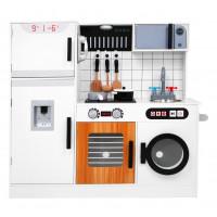 Interaktív játék konyha + ajándék konyha szett Inlea4Fun ELLA - Fehér