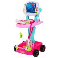 Orvosi kocsi gyerekeknek Inlea4Fun Doctor EKG - rózsaszín