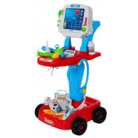 Orvosi kocsi gyerekeknek Inlea4Fun Doctor EKG - kék/piros