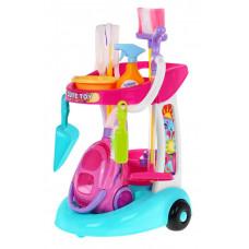 Játék takarító kocsi kiegészítőkkel Inlea4Fun Cute Toy Előnézet