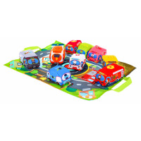 Játszószőnyeg város autókkal Inlea4Fun