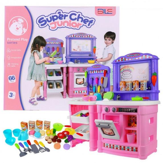 Inlea4Fun Super Chef Játékkonyha - rózsaszín