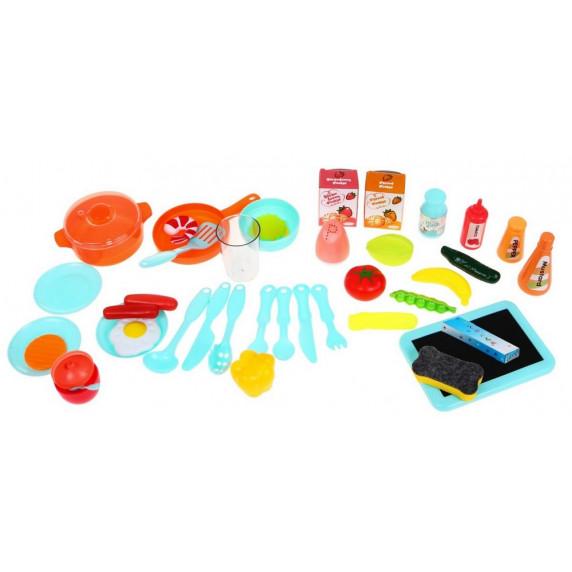 Játékkonyha 42 kiegészítővel Inlea4Fun MODERN KITCHEN - kék