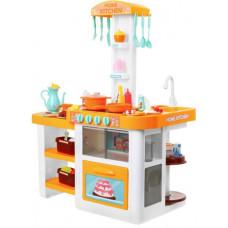 Inlea4Fun ELISA Játékkonyha fény és hangeffektekkel 46 kiegészítővel - narancssárga Előnézet