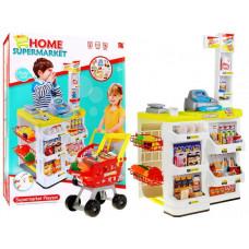 Inlea4Fun Stragan Supermarket bevásárló kocsival - Sárga Előnézet