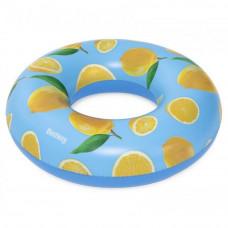Felfújható kerek úszógumi citrom mintás 119 cm Bestway 36229 Előnézet