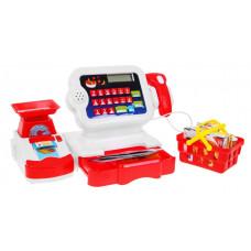 Érintőképernyős pénztárgép kosárral és mérleggel Inlea4Fun - piros/fehér Előnézet