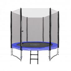 Inlea4Fun Ami Jump 250/244 cm trambulin rugótakaróval + létra - kék