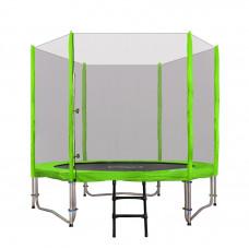 Inlea4Fun Ami Jump 250/244 cm trambulin rugótakaróval + létra - zöld
