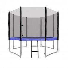 Inlea4Fun Ami Jump 305 cm trambulin rugótakaróval + létra - kék