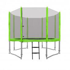 Inlea4Fun Ami Jump 305 cm trambulin rugótakaróval + létra - zöld