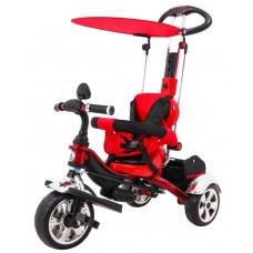 Inlea4Fun SporTrike CLASSIC EVA tricikli tolókarral és tetővel - Piros Előnézet