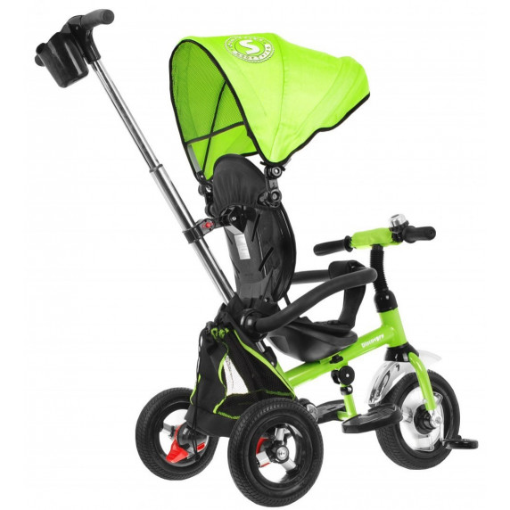 Inlea4Fun SporTrike DISCOVERY tricikli tolókarral - Zöld