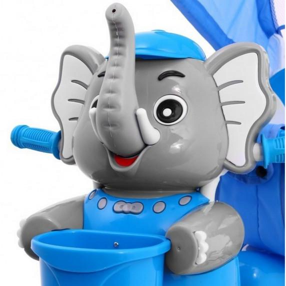 Inlea4Fun Happy Elephant tricikli - kék