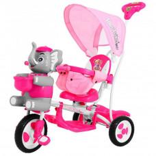 Inlea4Fun Happy Elephant tricikli - rózsaszín  Előnézet