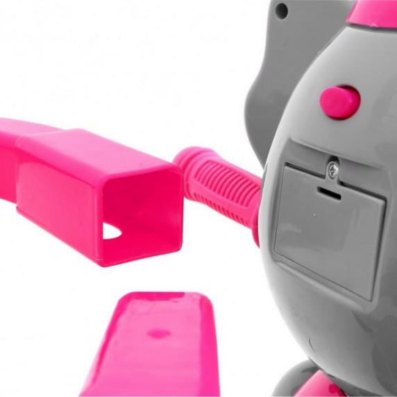 Inlea4Fun Happy Elephant tricikli - rózsaszín