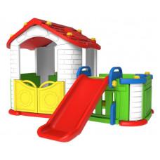 Inlea4Fun 3 az 1-ben kerti játszóház - piros Előnézet