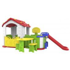 Inlea4Fun 5 az 1-ben kerti játszóház - piros Előnézet