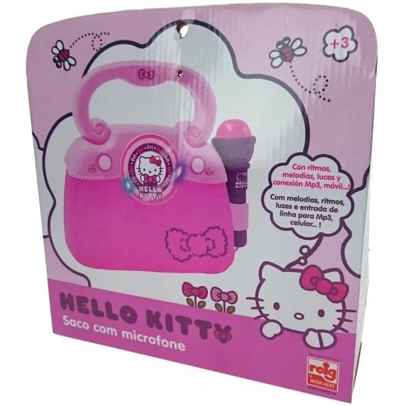 Divattáska mikrofonnal és dallammal REIG Hello Kitty