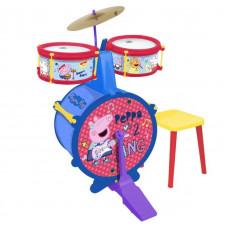 Játék dobfelszerelés ülőkével REIG Peppa malac Előnézet
