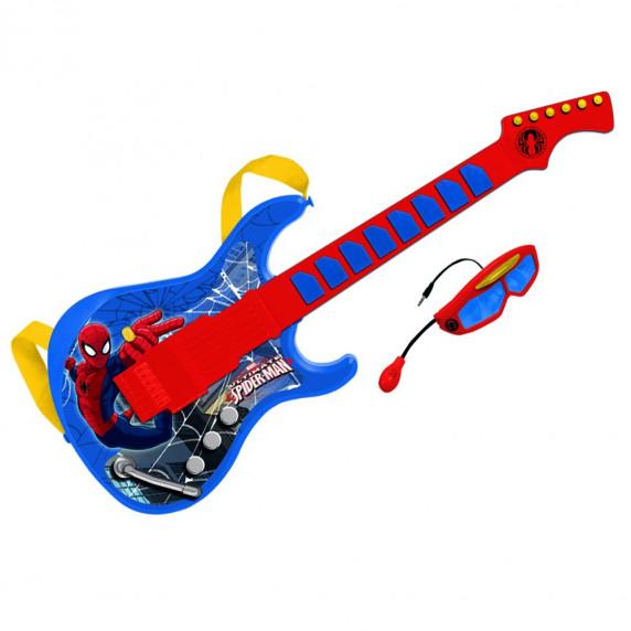 Elektromos játék gitár mikrofonos szemüveggel REIG Pókember