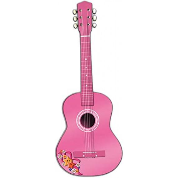 REIG Madera Játék fa gitár gyerekeknek 75 cm - Rózsaszín