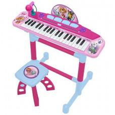 Szintetizátor mikrofonnal és ülőkével REIG Mancs Őrjárat Pink Előnézet