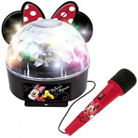 REIG Minnie diszkógömb mikrofonnal és fényekkel