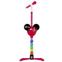 Állványos MP3-as mikrofon fényekkel REIG 5253 Minnie egér