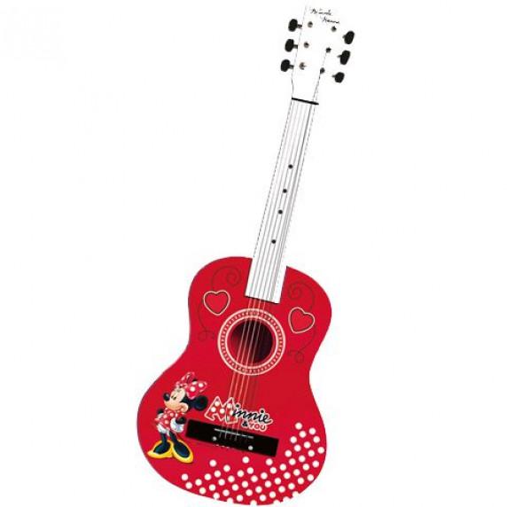 Akusztikus fa játék gitár 65 cm REIG Minnie egér 5255