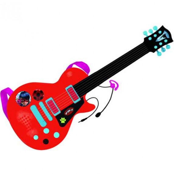 Elektromos játék gitár mikrofonnal REIG Miraculous Katicabogár és Fekete macska