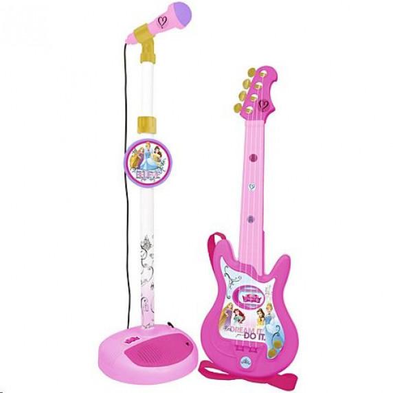 Játék gitár mikrofonnal és állvánnyal REIG Disney Hercegnők