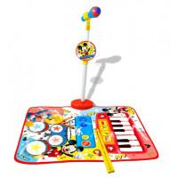 Zongoraszőnyeg álló mikrofonnal és dobverővel REIG Mickey egér
