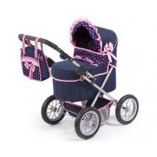REIG Trendy Luxus Játék babakocsi 67x41x68cm - Kék/rózsaszín Előnézet