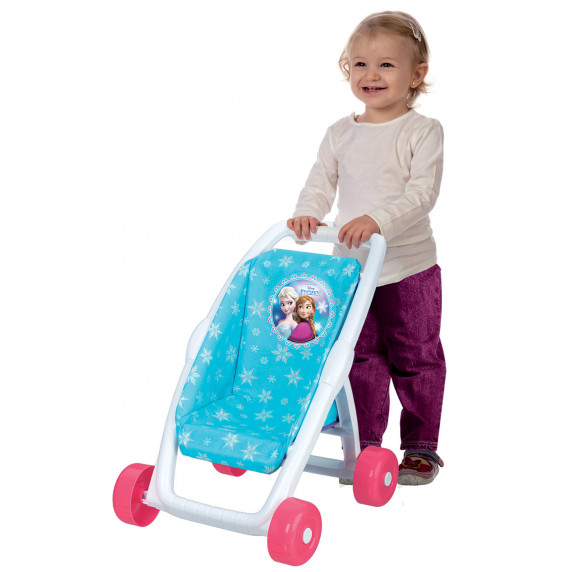 Játék babakocsi Smoby Jégvarázs Frozen Buggy  - kék