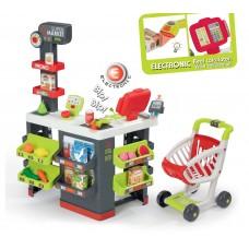 Smoby Szupermarket elektronikus pénztárgéppel és bevásárlókosárral Előnézet