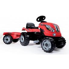 Smoby Farmer XL traktor utánfutóval - piros Előnézet