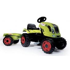 Smoby Claas Farmer XL traktor pótkocsival - zöld Előnézet