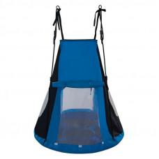 Fészekhinta sátorral SPARTAN 110 cm - Kék Előnézet